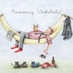 Cards » Recovering Workaholic » Recovering Workaholic - Berni Parker Designs