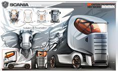 Animal Truck Concept Design Sketch by Serdar Soyal Car Design Sketch, Truck Design, Car Sketch, Design Cars, Cool Trucks, Big Trucks, Semi Trucks, Industrial Design Sketch, Futuristic Cars