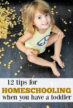 So how do you homeschool with toddlers in the house?  This post will show you how. (Love these simple toddler activities!)