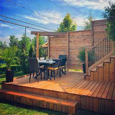 Backyard Patio, Backyard Ideas, Front Steps, Back Deck, Dream Pools, Deck Design, Pool Landscaping, Montreal, Decks