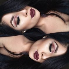 This cranberry smokey look, LOVE. ❤️ @mariaherreraa__ used our Super Skinny Eye Marker in 'Carbon Black' to complete her look. Find this liner and all our NEW liquid liners on our site! || #nyxcosmetics #regram