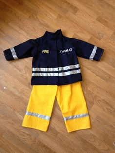 Fancy dress Fireman's outfit Personalised by ShesSewUnique on Etsy, £20.00