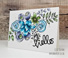 Anyone Ready For Summer? SSS Sketched Flowers with Copics Flower Sketches, Art Case, Flower Doodles, Tampons, Simon Says Stamp, Copics, Watercolor Cards, Flower Cards, Flower Stamp