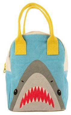 Fluf Shark Zipper Organic Lunch Bag $29.49 - from Well.ca