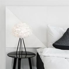 The Umage Eos mini is made from natural goose feathers, each carefully positioned on a paper core by hand. As the lamp is shielded, the Eos radiates Tripod Table Lamp, Table Lamp Base, Table Lamp Sets, Lamp Bases, Desk Lamp, Eos, Headboard Lamp, Feather Lamp, Deco Addict