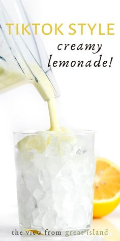 Creamy lemonade is an epic refresher made with zingy lemons and a touch of sweet cream whipped up right in your blender (no sweetened condensed milk in my uber fresh recipe) It's thick and creamy over crushed ice…like a lemon shake! #lemonade #nonalcoholic #creamy Vodka Lemonade, Lemonade Cocktail, Citrus Recipes, Home Recipes, Brazilian Lemonade, The Best Vodka, Lemon Ice Cream, Non Alcoholic Cocktails