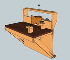Multi-functional horizontal routing machine as Featured on Blue Collar Woodworking Episode 17- Downloadable Plans. $10.00, via Etsy.
