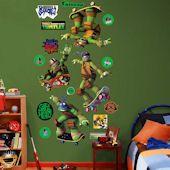 Show TMNT Wall Decals and Stickers! Teenage Mutant Ninja Turtle wall decor featuring Raphael, Donatello, Leonardo, and Michaelangelo Teenage Mutant Ninja Turtles, Tmnt, Wall Decals, Skateboard, Collection, Decor, Skateboarding, Decoration, Wall Stickers