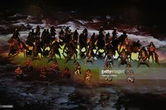 Performers perform during the IRB 2011 Rugby World Cup Opening Ceremony at Eden Park on September 2011 in Auckland, New Zealand. Get premium, high resolution news photos at Getty Images World Cup News, Eden Park, September 9, Rugby World Cup, Opening Ceremony, Auckland, New Zealand, Costumes, Painting
