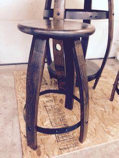 Wine Barrel Pub Stool by WinewoodDesigns on Etsy