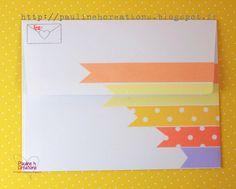 Une enveloppe coordonnée au challenge couleur #1...(Verso) Copyright Pauline h. Créations