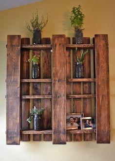shelfs made from a wood pallet...
