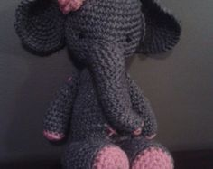 Ella the Elephant  PDF Crochet Pattern