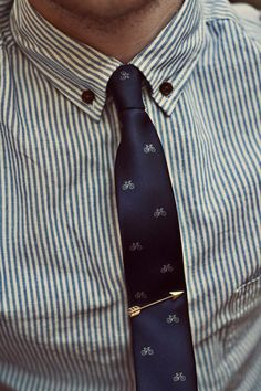 Bike tie +arrow tie clip