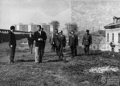 Visita de las autoridades a la Ciudadela.1971.