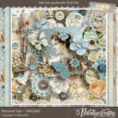Another amazing and stunning collection by Valentina's Creations.  A collection dedicated to her husband. You can buy in individual packs or as a Bundle to save more. Visit her shops at Scrapbookbytes and The Studio.