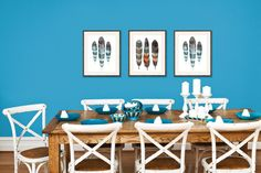 Image result for turquoise blue dining room