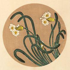 伊藤若冲『水仙(すいせん)』-木版画(額装もできます) - 京都 木版画の販売 Winds!芸艸堂(うんそうどう)/Ukiyo-e, Woodblock print - Winds! UNSODO