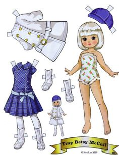 Tiny Betsy McCall paper doll by Paper Art, Paper Crafts, Paper Dolls Printable, Vintage Paper Dolls, Vintage Crafts, Paper Toys, Doll Patterns, Doll Toys, Dolls Dolls