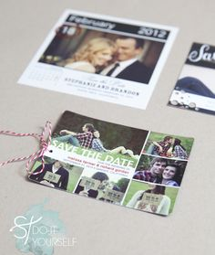 How-To: DIY Save-the-Date Embellishments. This is such a nifty idea and a great way to add your own little something to personalize your day!!!