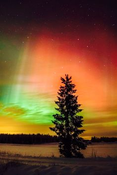 Aurora Sunset in Finland