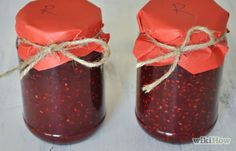 How to Make Red Raspberry Jam. Making delicious jam can be relatively simple if you prepare it with this streamlined method. Fruit is particularly amenable to canning because of the acid that it contains. Adding sugar in high concentration. Raspberry Filling, Red Raspberry, How To Make Red, Mango Jam, Low Sugar, Home Brewing, Baking Recipes, Baking Ideas, Canning