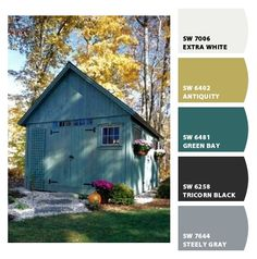 blue shed in the Fall