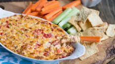 Pimento Cheese Queso with Toppings Bar Recipe : Trisha Yearwood : Food Network