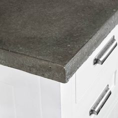 These concrete counters were poured and installed by the homeowner!