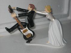 Guitar+Themed+Wedding+Cake+Topper+Groom+Bride+by+finsnhorns,+$49.95