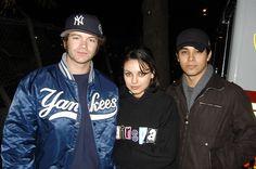 Danny Masterson, Mila Kunis, and Wilmer Valderrama - October 25, 2003