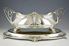 Original Art Nouveau centerpiece flowerdish with mirror stand WMF 1906 Germany #WMF