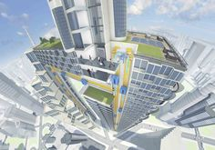 ThyssenKrupp's sideways maglev elevators could enable some very weird buildings.
