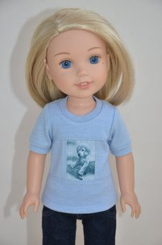 ff91233de14 14.5 Inch Doll Clothes- T-shirt fits Dolls Like Wellie Wishers . Doll  Clothes