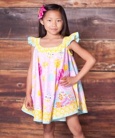 0906881e356 Another great find on Pink Psanka Swirl Dress   Bow Clip - Infant