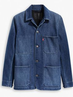 this stepped-up coat — inspired by vintage workwear — is an updated nod to our rich history. Its utilitarian style makes it both a functional and sharp outer laye. Star Clothing, Clothing Co, Bohemian Style Men, Raw Denim, Jeans, Work Wear, Menswear, Mens Fashion, Coat