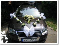 autó dekoráció 8 by partydekor.hu Wedding Car, Wedding Stuff, Weeding, Events, Decorations, Vehicles, Diy, Brides, Bricolage