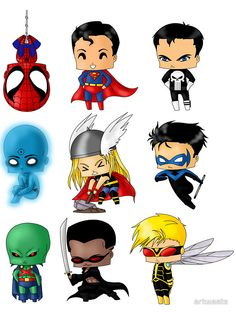 Chibi 80 48 Beautiful Chibi Heroes Set 3 by Artwaste On Deviantart Hero Marvel, Chibi Marvel, Marvel Vs, Marvel Dc Comics, Baby Avengers, Anime Chibi, Marvel Characters, Cartoon Characters, Mundo Comic