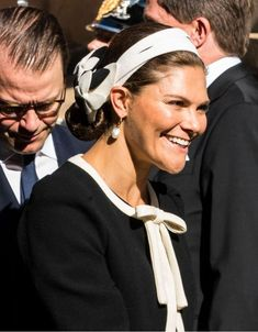 Sep 2019 in Melinda Damgaard Princess Victoria Of Sweden, Crown Princess Victoria, Princess Sofia, Black And White Hats, Queen Silvia, Philip Treacy, Swedish Royals, Dress Codes, Headpiece