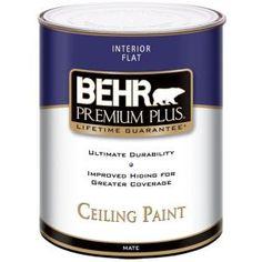 BEHR Premium Plus 1-qt. Flat Interior Ceiling Paint-55804 at The Home Depot