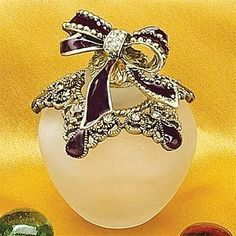 Crystal Jewel Perfume Bottle Scented Fragrance Container Decoration