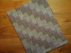 Handwoven Kitchen Dish Towel  Willow Green Navy by FrederickAvenue, $28.00 crackle weave