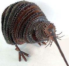 Fantasy | Whimsical | Strange | Mythical | Creative | Creatures | Dolls | Sculptures | corrugated iron animal sculpture