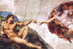 Michelangelo (Creation of Adam) Art Poster Print Prints - Angel Gif, Michelangelo Paintings, Michelangelo Tattoo, Spirituality Posters, Rennaissance Art, Sistine Chapel, Poster Prints, Art Prints, Greek Art