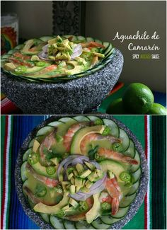 Shrimp Aguachile w/ Spicy Avocado Sauce Recipe. Perfect for a light lunch or refreshing snack. @Hass #SaboreaUnoHoy #spon #StopeDiabetes http://www.latinofoodie.com/featured-blog-posts/aguachile-hass-avocado/