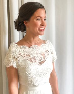 Lace Wedding, Wedding Dresses, Bridal Makeup, Hair, Tops, Women, Fashion, Bride Gowns, Wedding Gowns