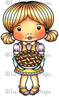 Baking Marci Rubber Stamp
