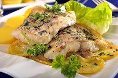 Bylinková ryba s citronem No Salt Recipes, Meat Recipes, Fish And Meat, Ham, Sushi, Food And Drink, Turkey, Menu, Gluten Free