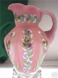 i love collecting ..... anything. This is a Fenton Pitcher... Rose Satin