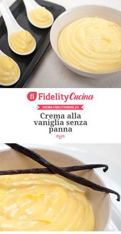 Crema alla vaniglia senza panna
